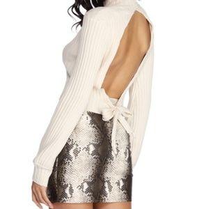 Tahari Ivory Snakeskin Print Skirt